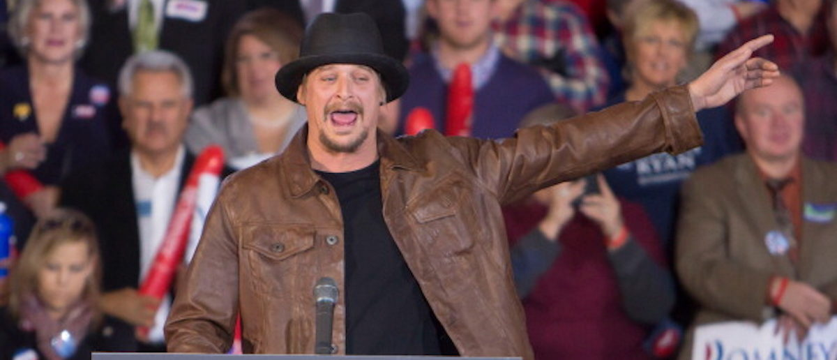 ROCHESTER, MI - OCTOBER 08:  Kid Rock attends the Congressman Paul Ryan Rally With Kid Rock at Oakland University Athletic Center on October 8, 2012 in Rochester, Michigan.  (Photo by Scott Legato/Getty Images)