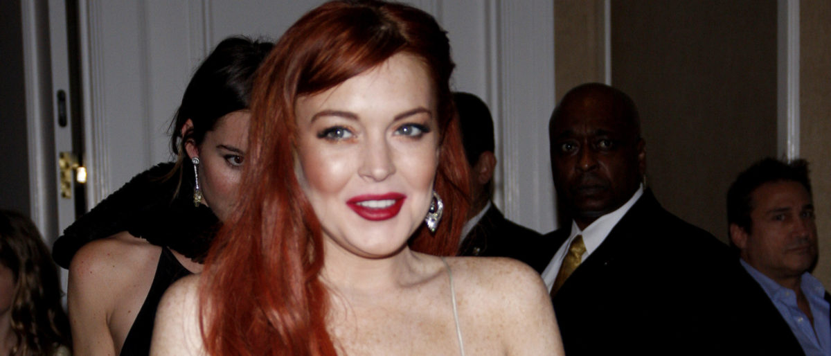 LOS ANGELES, CALIFORNIA - November 20, 2012. Lindsay Lohan at the Los Angeles premiere of 'Liz & Dick' held at the Beverly Hills Hotel in Los Angeles. (Shutterstock
