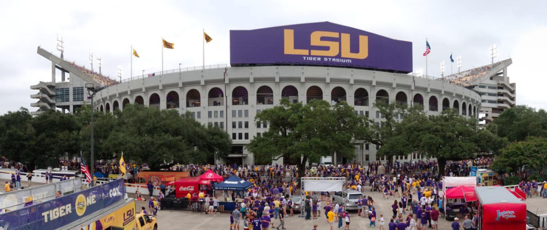 Football stadium at Louisiana State University (Shutterstock/Roberto Michel)