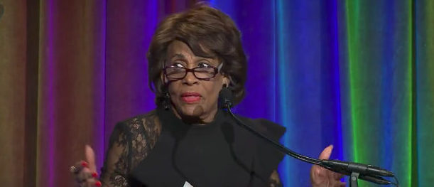 Maxine Waters Youtube screenshot