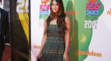 Actress Megan Fox poses at the 2014 Nickelodeon Kids' Choice Sports awards in Los Angeles July 17, 2014.   REUTERS/Danny Moloshok