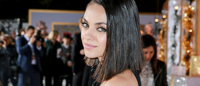 """Mila Kunis attends the premiere of STX Entertainment's """"A Bad Moms Christmas"""" on October 30, 2017 in Los Angeles. (Photo by Rich Fury/Getty Images)"""