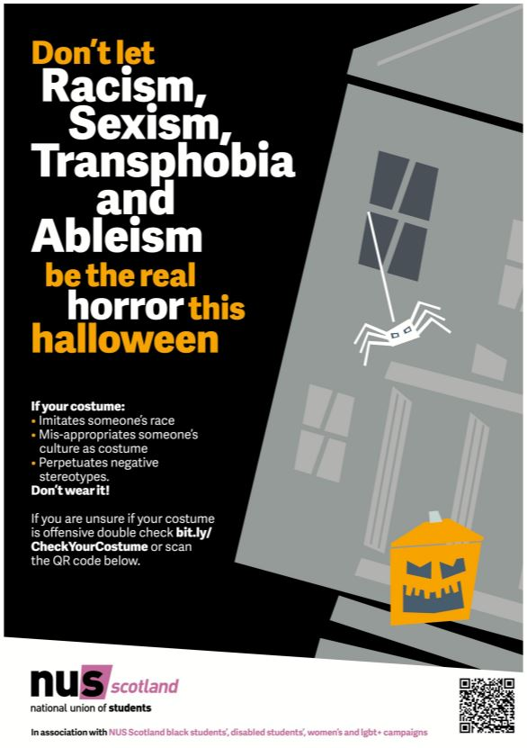 Check Your Costume awareness campaign (Source: National Union of Students)