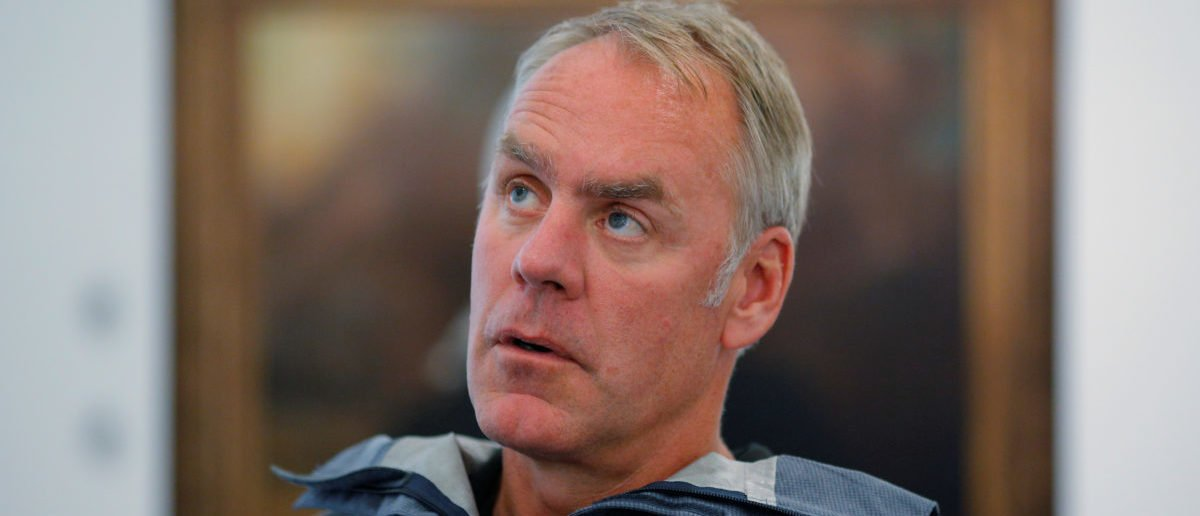 U.S. Interior Secretary Ryan Zinke is interviewed by Reuters in Boston