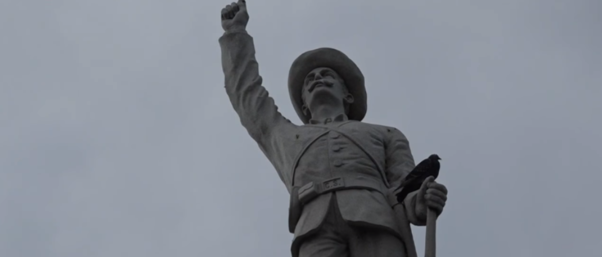 The Confederate memorial stands resolute in San Antonio, Tex. a month before its removal. (Photo Credit: YouTube/KENS 5)