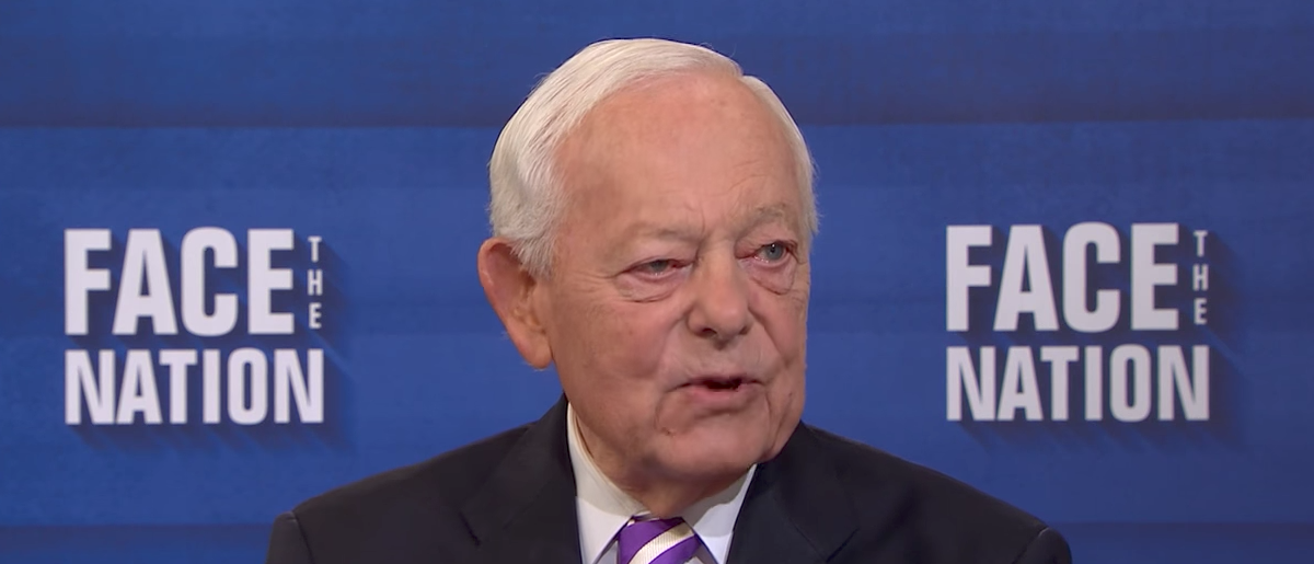 "Bob Schieffer on CBS' ""Face the Nation,"" Oct. 1, 2017. (Youtube screen grab)"