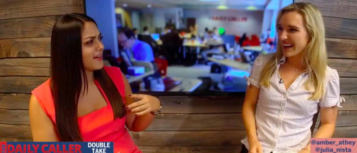 Screen Shot Double Take w/ Amber Athey and Julia Nista (Daily Caller: Oct 3, 2017)