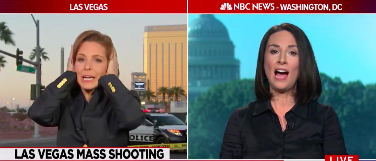 Screen Shot Stephanie Ruhle Mocks Hunters (MSNBC:  Oct 4, 2017)