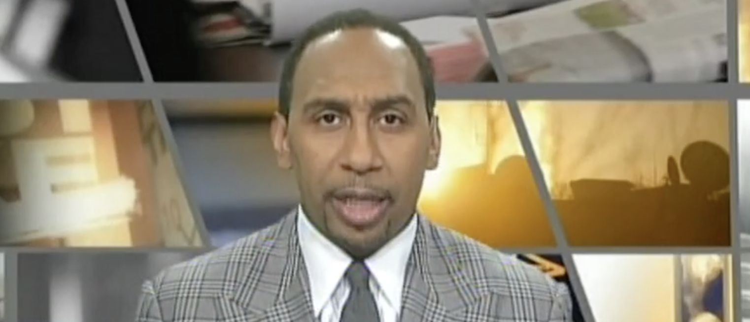 Stephen A. Smith (Photo credit: screenshot/ESPN First Take)