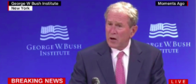 Screenshot George W Bush (CNN: Oct 19, 2017)