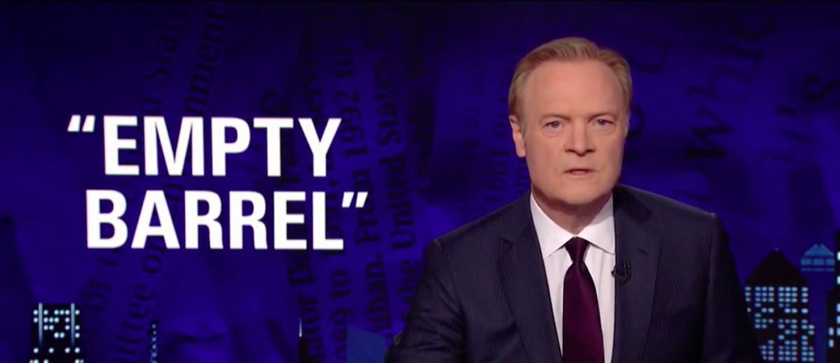 Lawrence O'Donnell suggests Kelly is a racist during a segment Thursday, Oct. 19. (Screengrab/MSNBC)