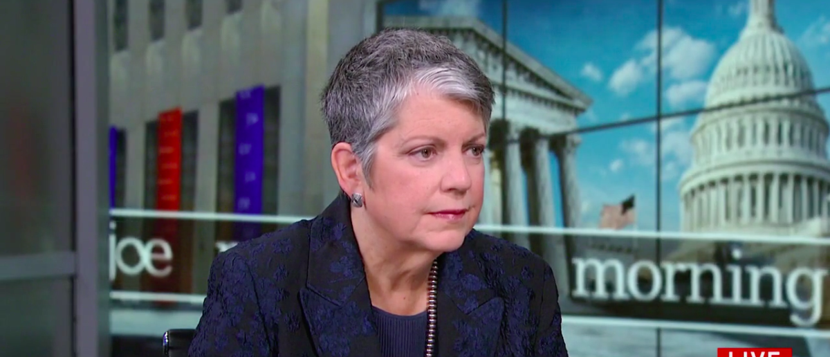 Screen Shot Janet Napolitano (MSNBC: Oct 20, 2017)