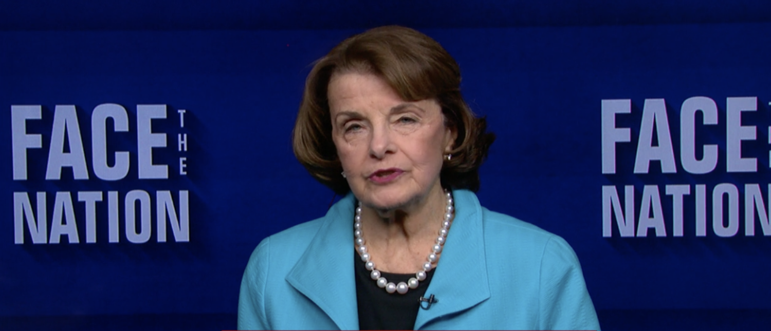 Sen. Dianne Feinstein on Face the Nation in Oct. 2017. (Screenshot/CBS News)