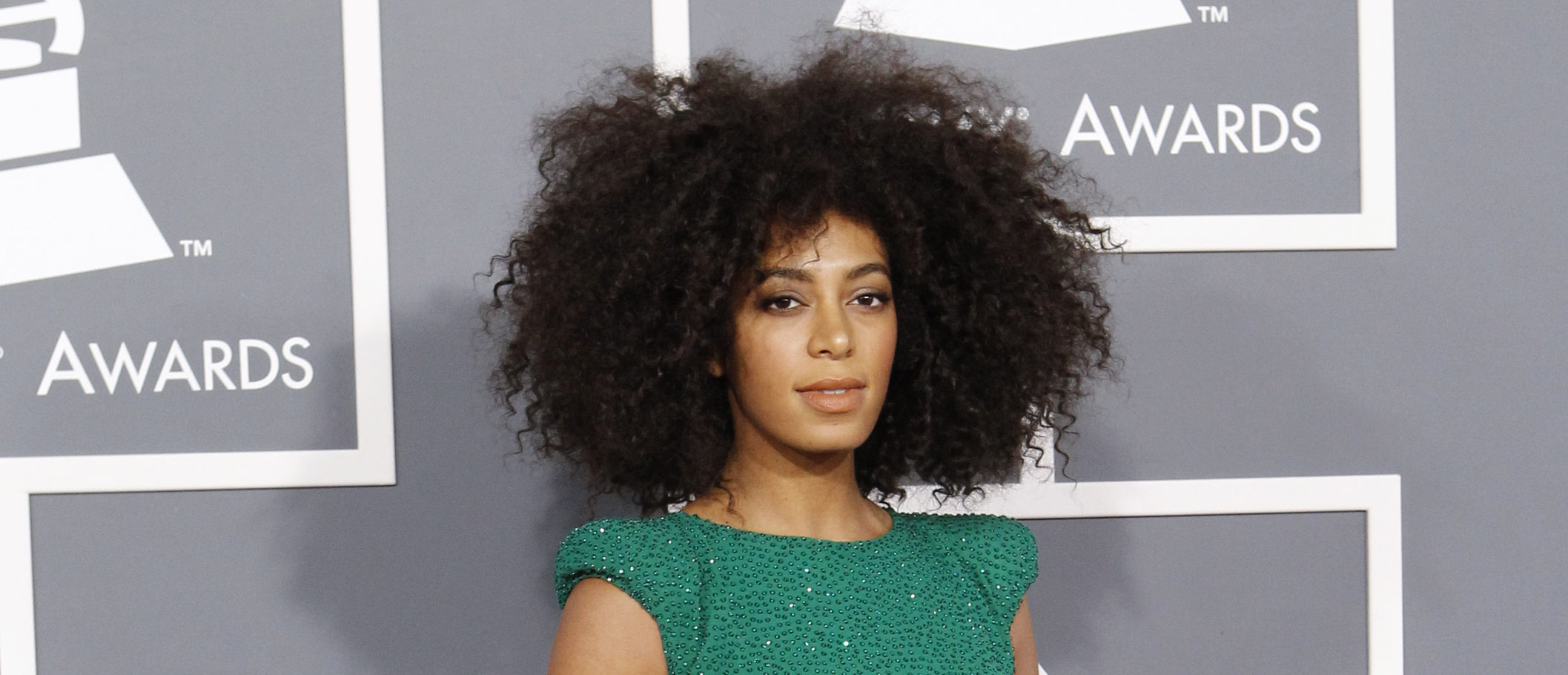 Singer Solange Knowles arrives at the 55th annual Grammy Awards in Los Angeles February 10, 2013. REUTERS/Mario Anzuoni