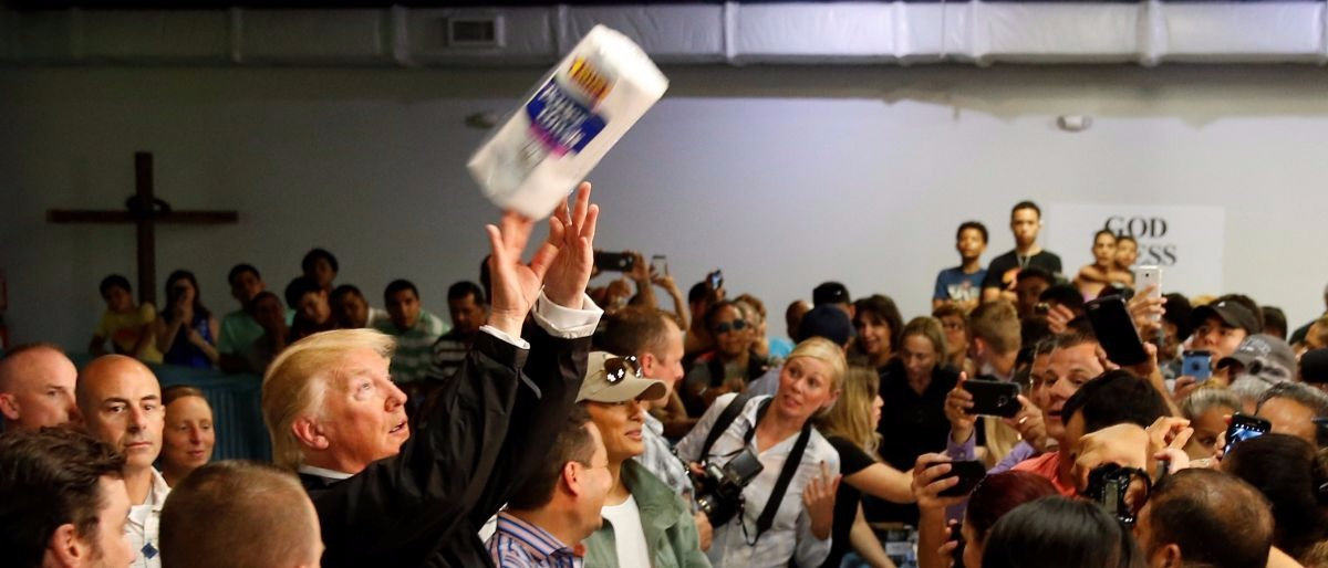 Trump paper towel Reuters/Jonathan Ernst