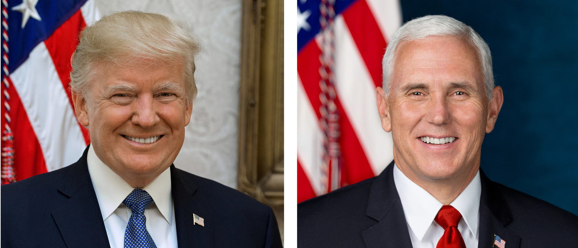 The White House Released the official portraits of President Donald Trump and Vice President Mike Pence. (Photo: White House/Released)