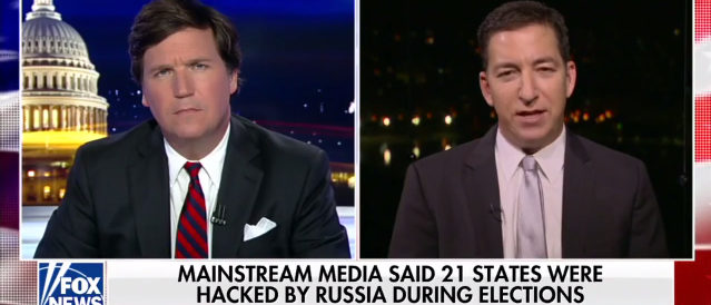 Tucker Carlson and Glenn Greenwald (Screenshot/Fox News)