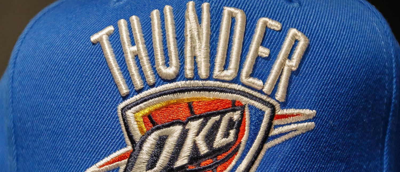 New York, October 20, 2017: Oklahoma City Thunder hat on sale in the NBA store in Manhattan (Roman Tiraspolsky/Shutterstock)