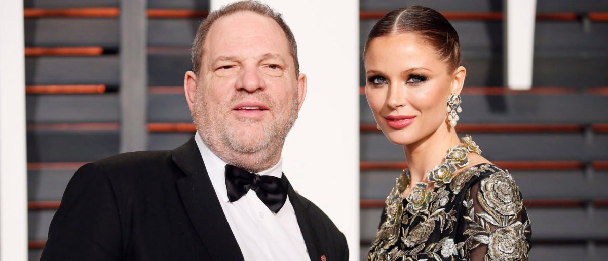 Producer Harvey Weinstein and wife, designer Georgina Chapman, arrive at the 2015 Vanity Fair Oscar Party in Beverly Hills, California February 22, 2015. (REUTERS/Danny Moloshok/Shutterstock)