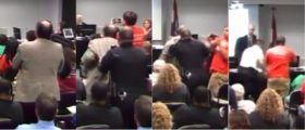 Watch This Cop BODY SLAM A Math Professor For Speaking At A Public Meeting [VIDEO]