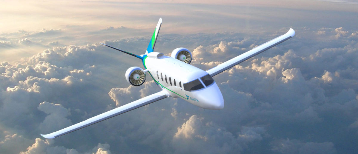 Zunum 2022 hybrid-electric aircraft by a Seattle-area startup backed by the venture arms of Boeing Co and JetBlue Airways Corp