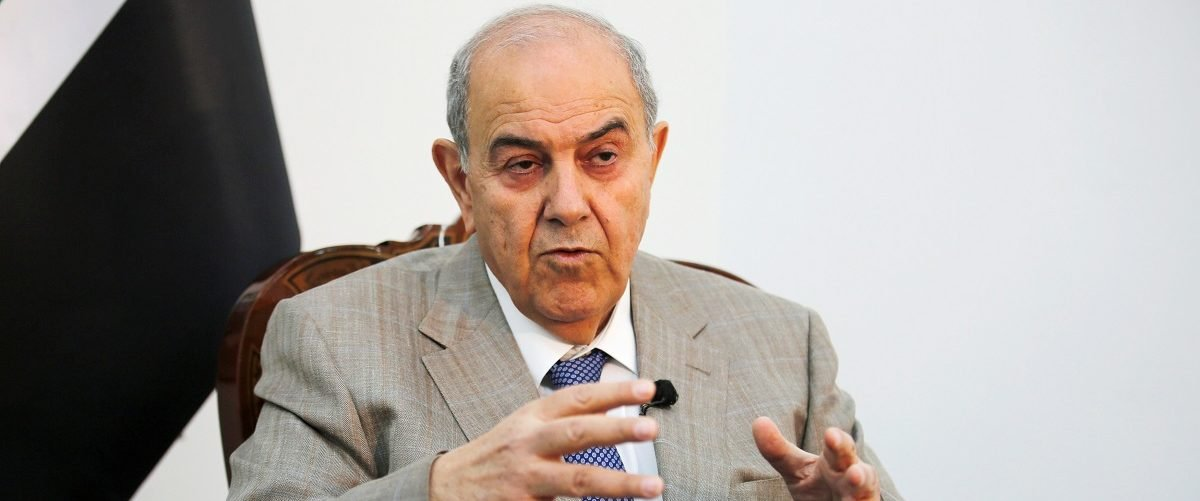 Iraq's Vice President Ayad Allawi speaks during an Interview with Reuters in Baghdad, Iraq April 17, 2017. REUTERS/Khalid al Mousily.