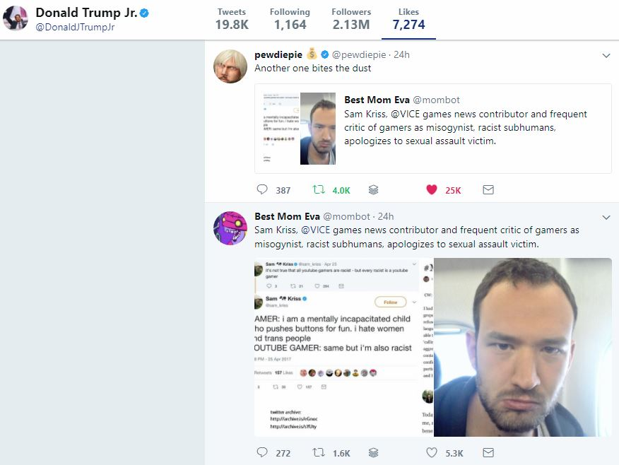 Donald Trump Jr.'s Twitter (Screenshot: Twitter)