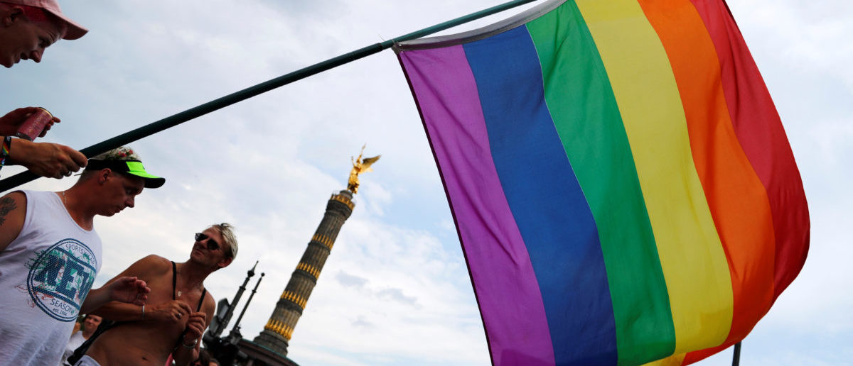A rainbow flag is seen during the annual Gay Pride parade, also called Christopher Street Day parade (CSD), in Berlin, Germany July 22, 2017. (Photo: REUTERS/Fabrizio Bensch)