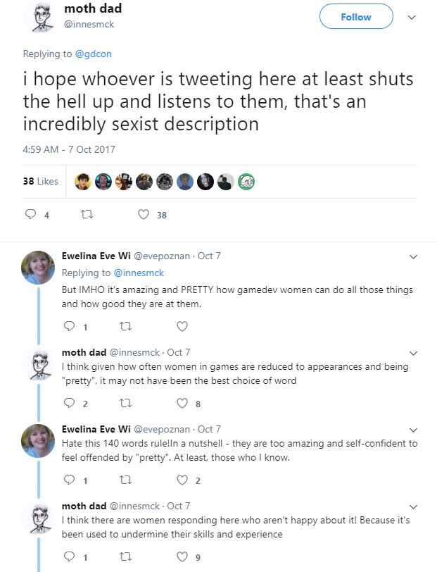 Game Industry Conference reaction (Screenshot: Twitter)