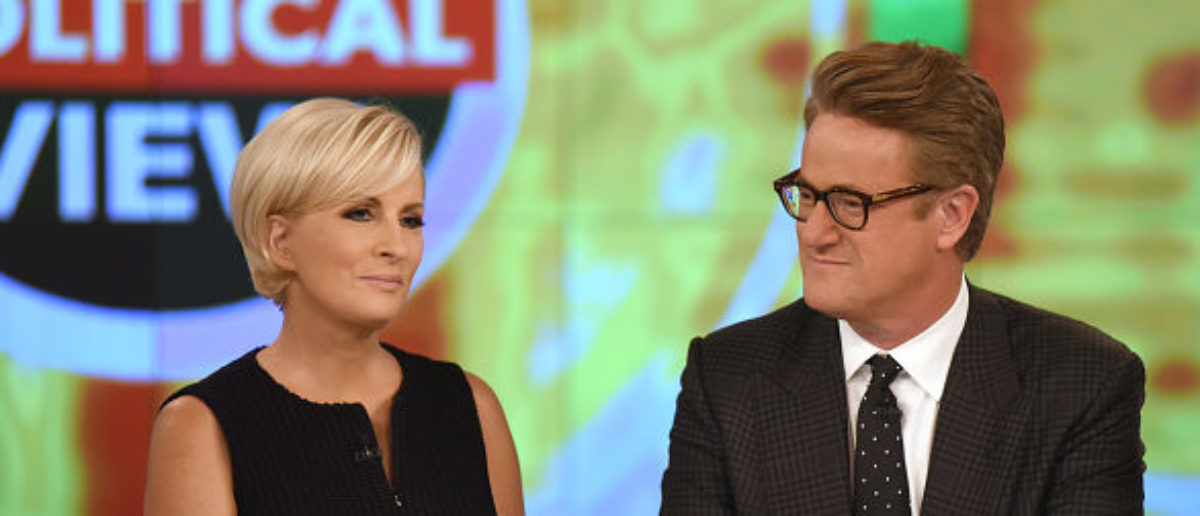 "Mika Brzezinski and Joe Scarborough on ABC's ""The View,"" Thursday, Sept. 21, 2017. (Photo by Paula Lobo/ABC via Getty Images)"