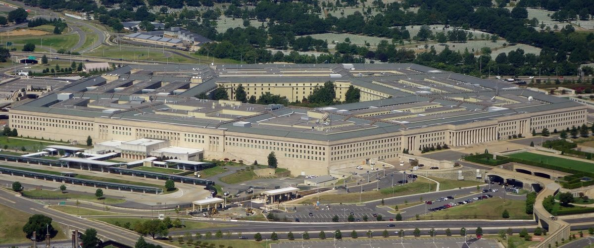 The Pentagon is seen from the air over Washington, DC on August 25, 2013. The 6.5 million sq ft (600,000 sq meter) building serves as the headquarters of the US Department of Defense and was built from 1941 to 1943. Saul Loeb/AFP/Getty Images.