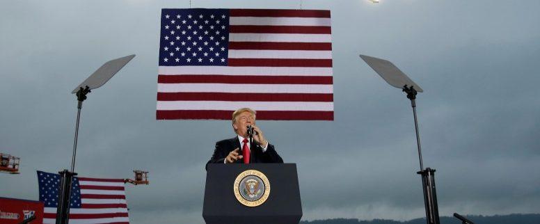 U.S. President Donald Trump speaks about tax reform in Harrisburg, Pennsylvania, U.S., October 11, 2017.   REUTERS/Joshua Roberts