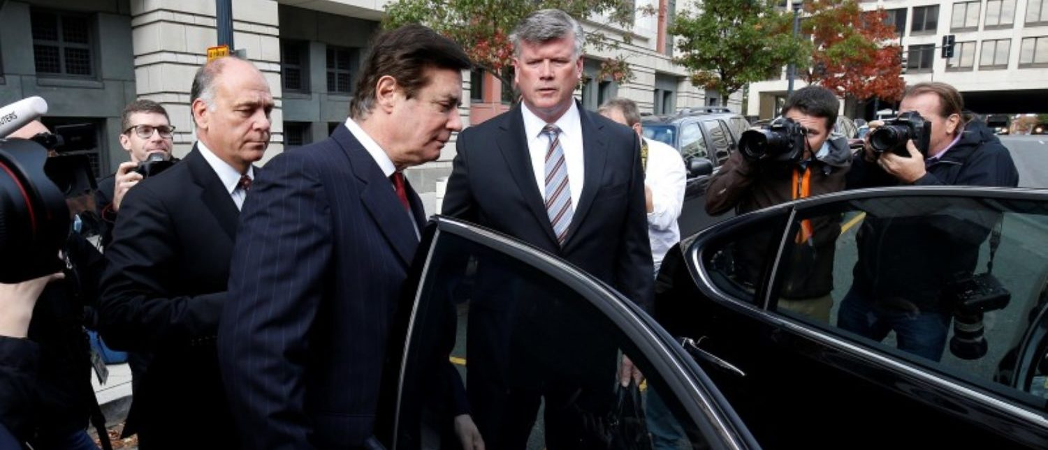 Paul Manafort, former campaign manager for U.S. President Donald Trump, departs after a bond hearing at U.S. District Court in Washington, U.S., November 6, 2017. REUTERS/Joshua Roberts