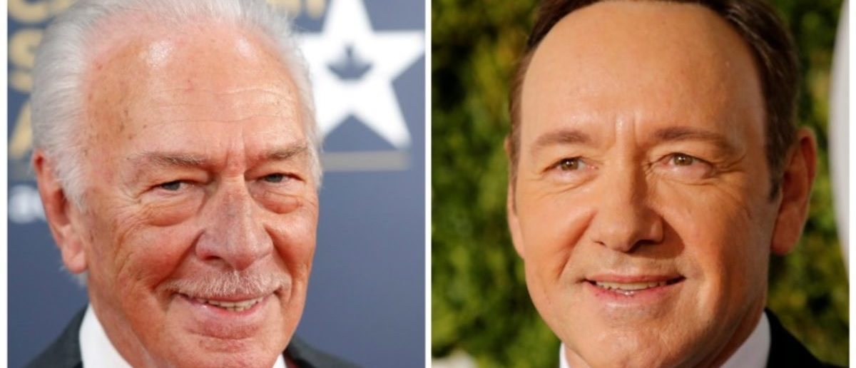 FILE PHOTO: Actor Christopher Plummer (L) is pictured arriving at the 2016 Canadian Screen Awards in Toronto, Ontario March 13, 2016, and Kevin Spacey (R) is pictured at the 71st Tony Awards in New York City, U.S., June 11, 2017 in this combination of file photos. REUTERS/Mark Blinch, Eduardo Munoz Alvarez/File Photo