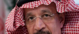 Saudi Arabia's Oil Minister al-Falih listens during a news conference after an OPEC meeting in Vienna