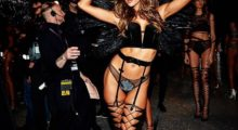 Alessandra Ambrosio shares snap from behind-the-scenes in black lingerie. (photo: Instagram)