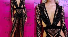 Dev Windsor hit the VS Fashion Show After-Party in a black see-through dress.(photo: Instagram)