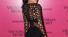 Sara Sampaio goes for a see-through dress at VS Fashion Show After Party. (photo: Instagram)