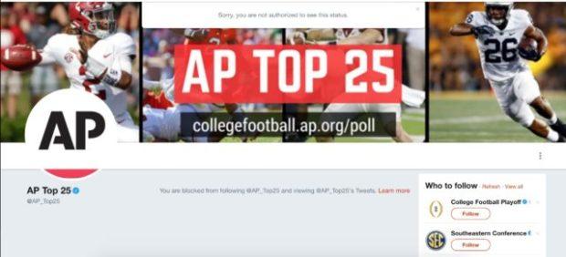 AP Top 25 (Credit: Screenshot/Twitter)