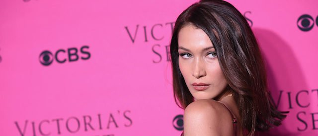 NEW YORK, NY - NOVEMBER 28: Model Bella Hadid attends as Victoria's Secret Angels gather for an intimate viewing party of the 2017 Victoria's Secret Fashion Show at Spring Studios on November 28, 2017 in New York City. (Photo by Dimitrios Kambouris/Getty Images for Victoria's Secret)
