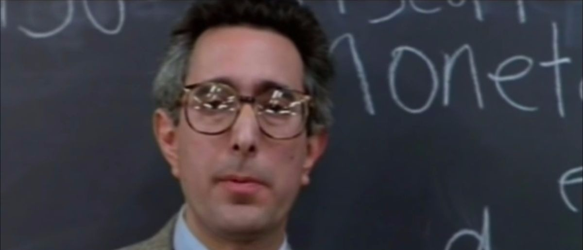 Ben Stein teachers in Ferris Buellers Day Off YouTube sceenshot/Directors Chair