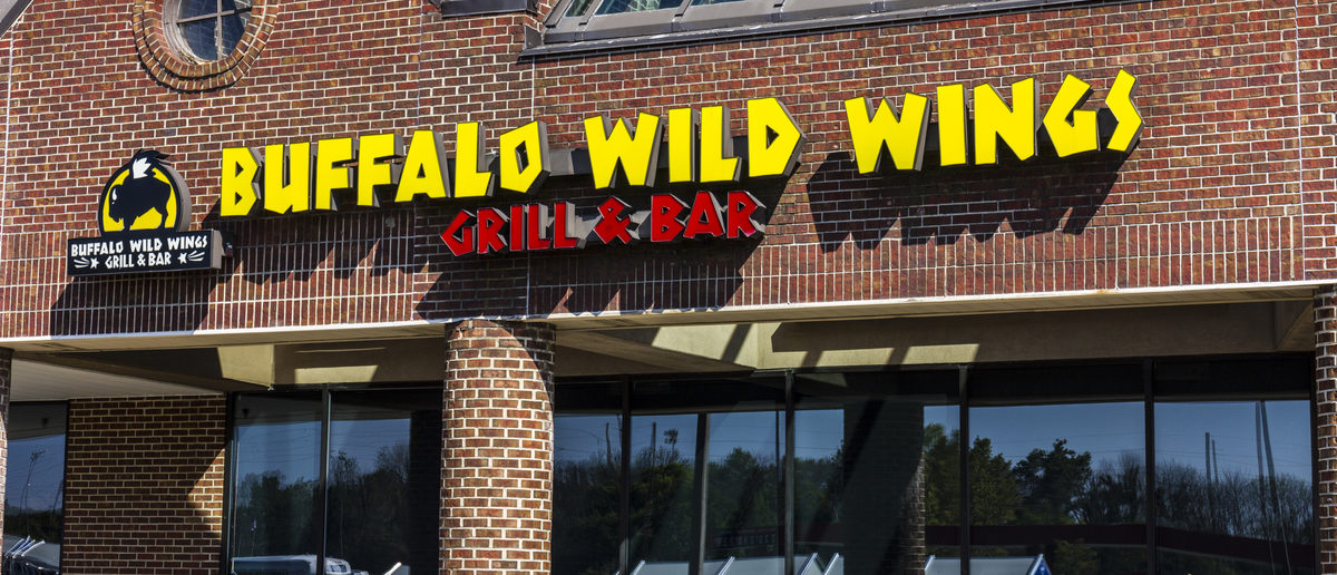 Indianapolis - Circa September 2016: Buffalo Wild Wings Grill and Bar Restaurant. (Shutterstock/Jonathan Weiss)