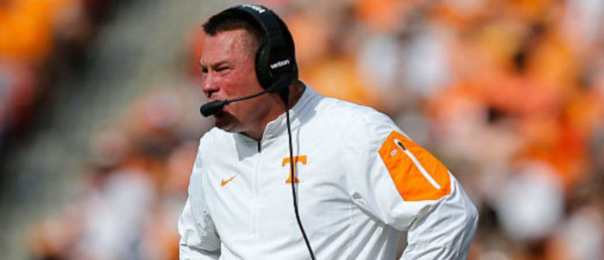 Head coach Butch Jones against the Northwestern Wildcats during the Outback Bowl at Raymond James Stadium on January 1, 2016 in Tampa, Florida. (Photo by Mike Carlson/Getty Images)