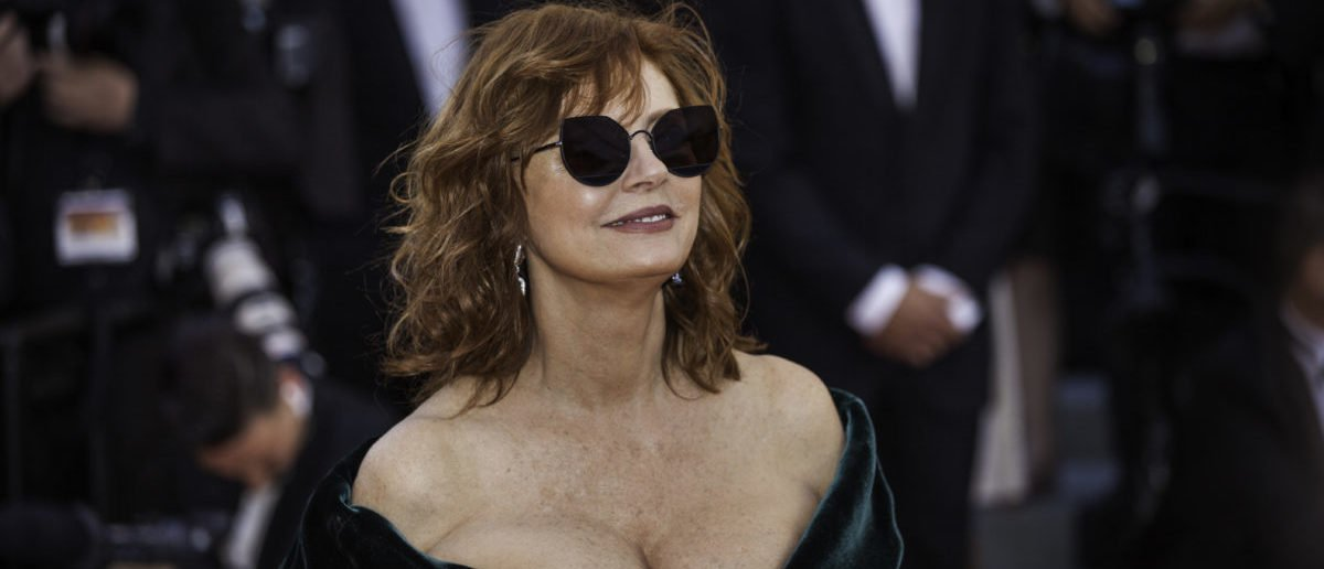 CANNES, FRANCE - MAY 17, 2017: Susan Sarandon attends the 'Ismael's Ghosts (Les Fantomes d'Ismael)' screening and Opening Gala during the 70th annual Cannes Film Festival at Palais des Festivals