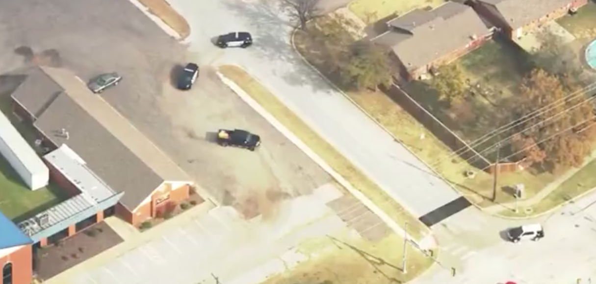CBS News Screenshot/Stolen truck leads police on wild chase in OK