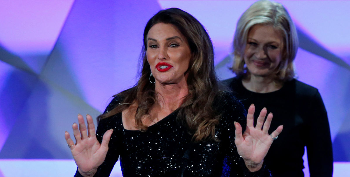 Caitlyn Jenner (L) speaks onstage next to Diane Sawyer during the 27th Annual GLAAD Media Awards in New York May 14, 2016. Photo: REUTERS/Eduardo Munoz