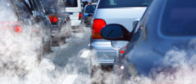 Pollution of environment by combustible gas of a car (Shutterstock/ssuaphotos)