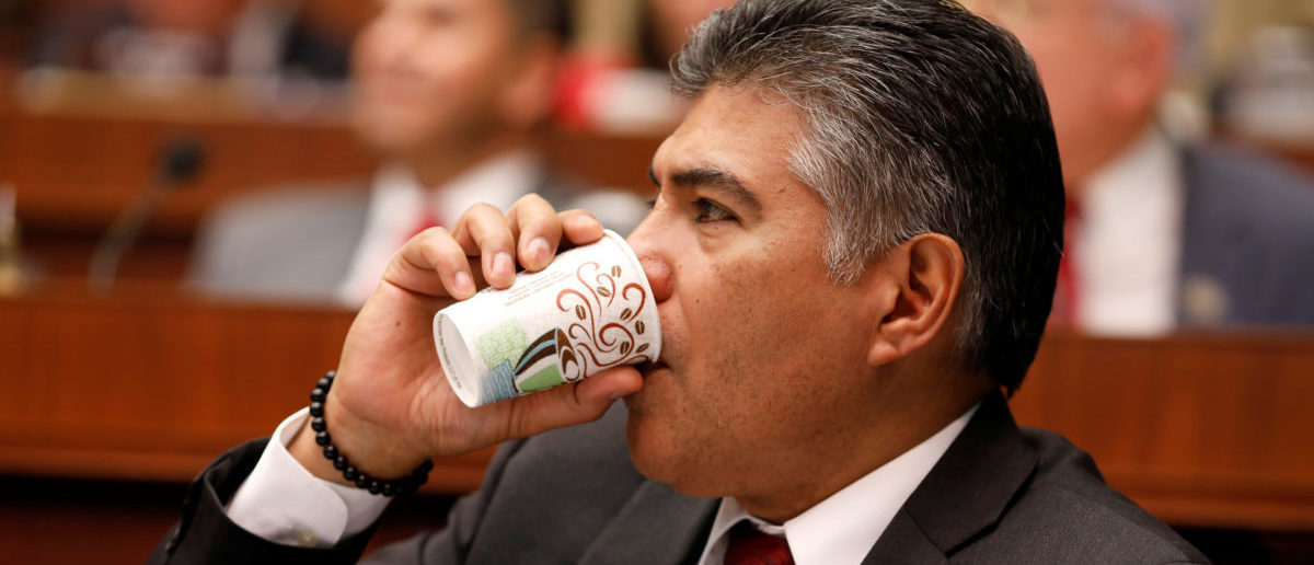 Rep. Tony Cardenas (D-CA) drinks coffee on Capitol Hill in Washington March 9, 2017. REUTERS/Aaron P. Bernstein