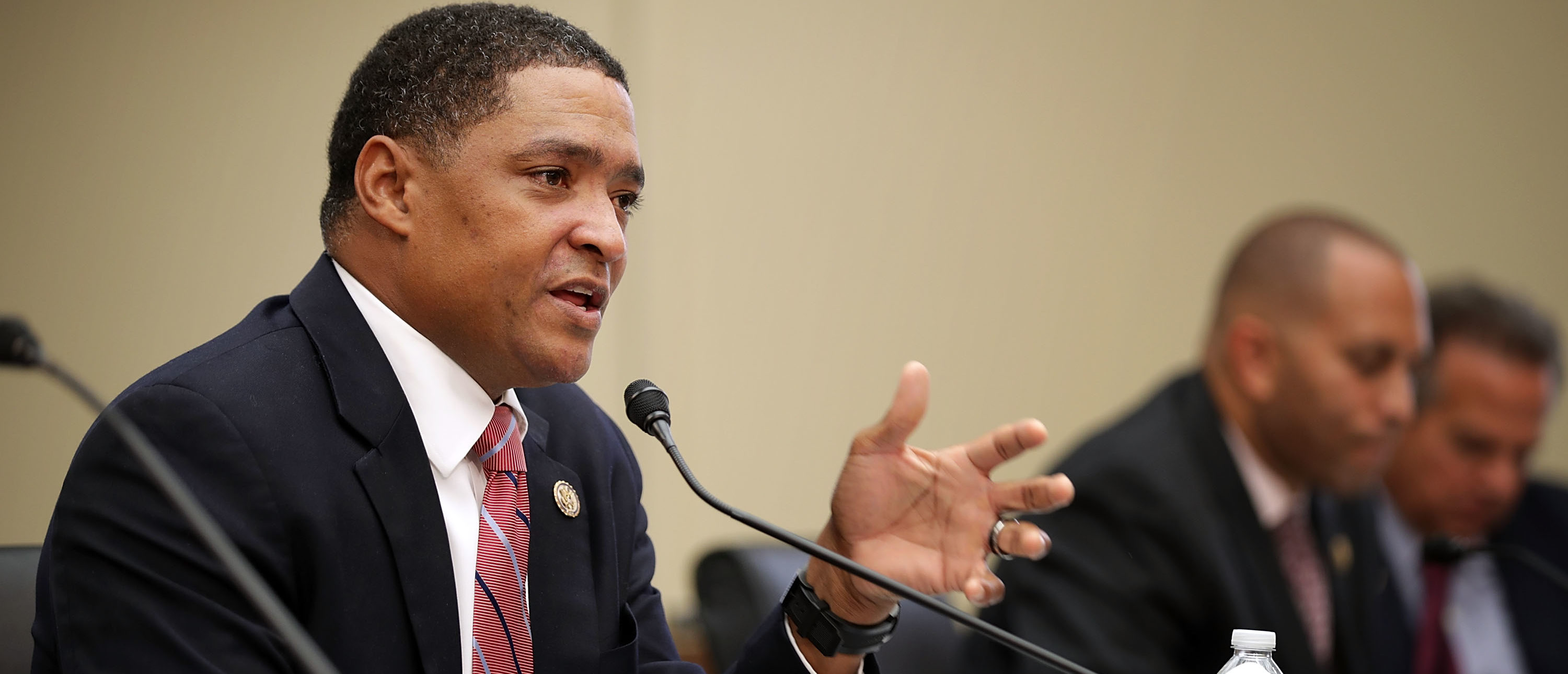 House Judiciary Committee member Rep. Cedric Richmond questions Internal Revenue Service Commissioner John Koskinen during a hearing in the Rayburn House Office Building on Capitol Hill September 21, 2016 in Washington, D.C. (Photo by Chip Somodevilla/Getty Images)