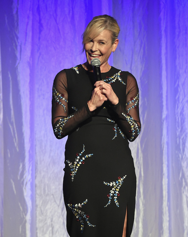 BEVERLY HILLS, CA - AUGUST 02: Host Chelsea Handler speaks onstage at the Hollywood Foreign Press Association's Grants Banquet at the Beverly Wilshire Four Seasons Hotel on August 2, 2017 in Beverly Hills, California. (Photo by Kevin Winter/Getty Images)